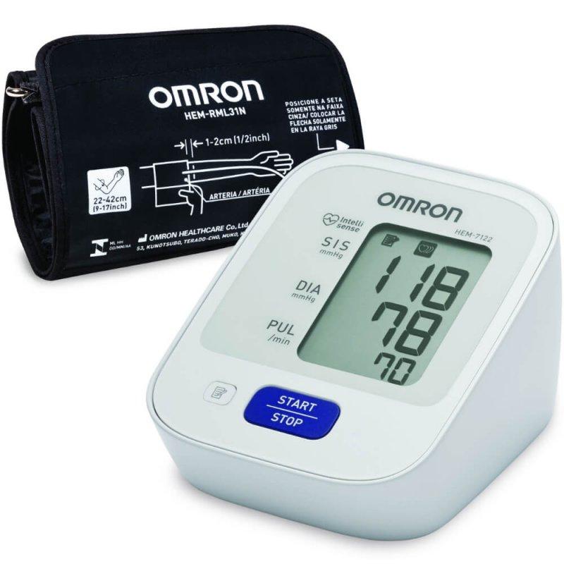 Monitor De Pressão Arterial Digital De Braço Omron Hem 7122 Automátic