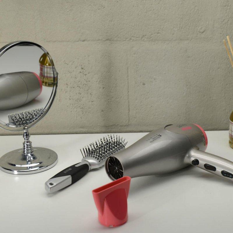 Secador de Cabelo Gama Italy Lumina Nano Tourmaline 127V Bege e Rosa 2200W e 6 Temperaturas