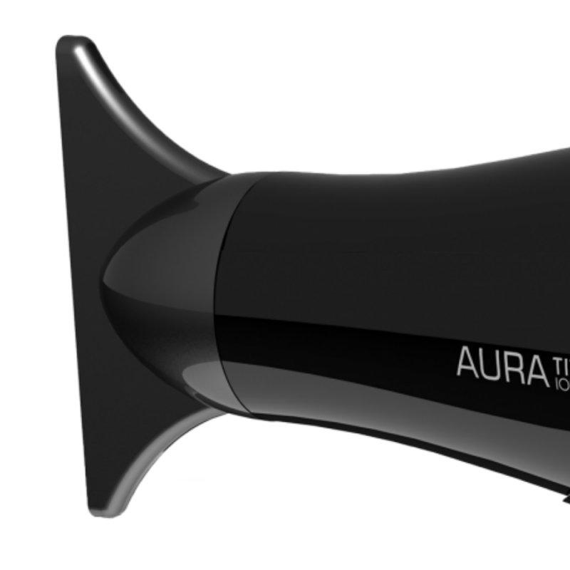 Secador de Cabelo Gama Italy Aura Titanium 220V Preto e Rosa 2300W 2 Velocidades 3 Temperaturas