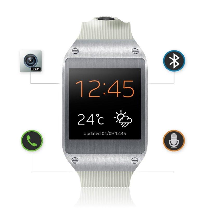 Relogio Inteligente Galaxy Gear Display 1 63 Bluetooth Sms 1 9 Mp 4gb Branco