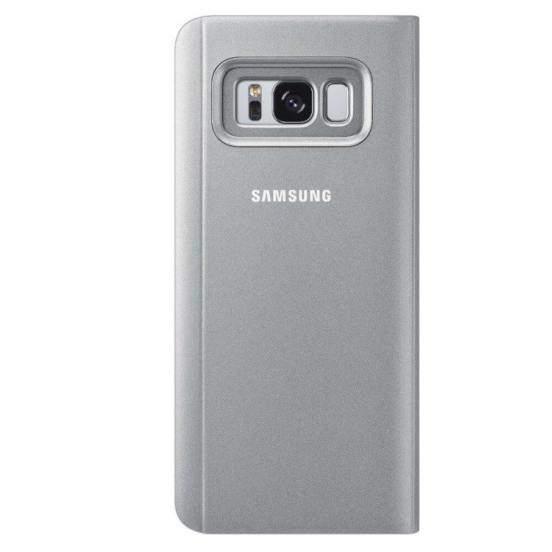 Capa Protetora Samsung Clear View Standing Cover para Galaxy S8 - Prata