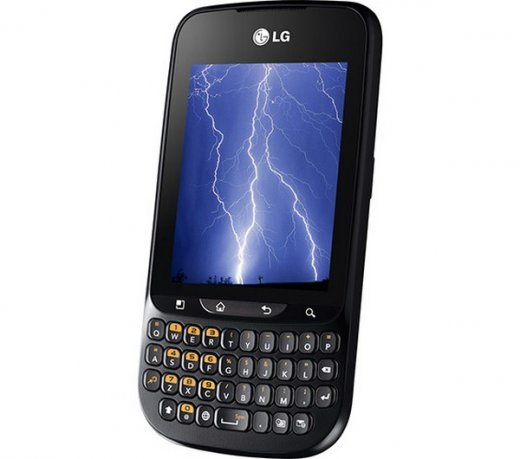 Smartphone LG Optimus Pro C660H / Android 2.3 / 3.2MP / Qwerty/Touch / 3G / Wi-Fi / Preto