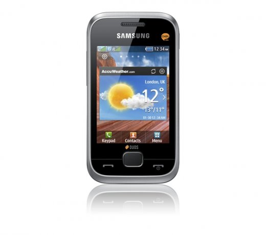 Celular Samsung Champ Deluxe / Dual Chip / Full Touch Screen / MP3 / Bluetooth / Rádio FM