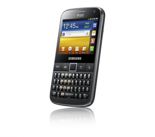 Smartphone Samsung Galaxy Y Pro Duos B5512 / Android 2.3 / 3G / Wi-Fi / 3.2MP / GPS / Qwerty
