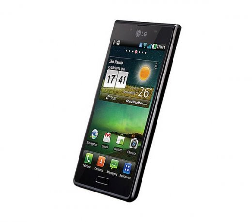 Smartphone LG P705F / L7 / Preto / Android ICS 4.0 / 3G / 5 MP / 4GB / Wi-Fi