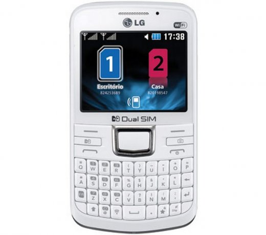 Celular LG C199 / Branco / Dual Chip / 2MP / 3G / Wi-fi / 2GB