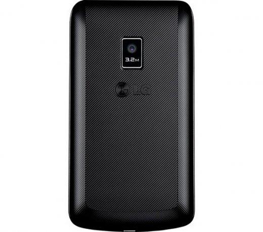 LG Tri Chip C333 / Wi-Fi / 3.2MP / MP3 / 2GB / Preto