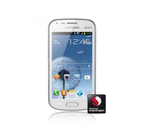 Smartphone Samsung Galaxy S Duos S7562 / Branco / Dual Chip / Android 4.0 / 5MP / 3G / WI-FI / GPS