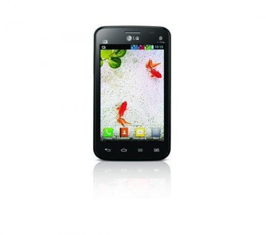Smartphone LG Optimus L4 II E470 TV / Preto / Android 4.1 / Tela 3.8 / Tri Chip / 3MP / 4GB / 3G