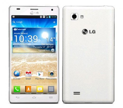 Smartphone LG Optimus P880 4X HD / 3G / Android 4.0 / 4.7 / 8MP Com Flash / 16GB / Branco / Desbloqueado - COD. P880 - BRANCO
