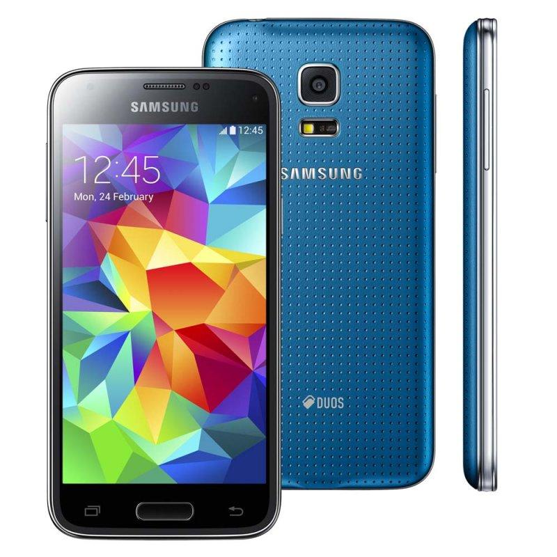 Smartphone Galaxy S5 Mini Desbloqueado Azul / Dual Chips / Câmera de 8.0 MP / Flash / Tela 4.5 ´ Sim Bi - Volt Sim 3G Sim 8.0 MP Sim Azul Sim 4.5 ´ Google Play Sim Sim 64GB 12 meses Sim Sim 16 GB Sim Sim Sim Sim Android 4.4 3G 1260 minutos 390 horas