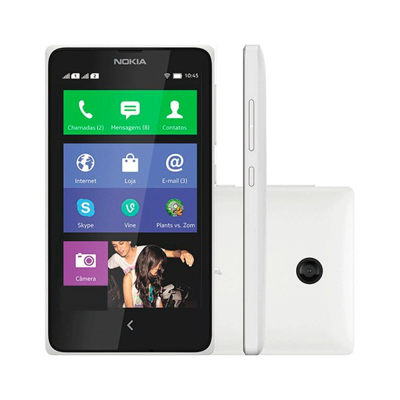 Smartphone Dual Chip Nokia X Desbloqueado Branco / X Platform 1.1 / 3G / 4GB / Wi - Fi / GPS Sim Bivolt Sim Quad Band Sim Sim Sim Branco Sim Sim Sim Sim Sim Micro SD Até 32 GB 12 Meses Sim Sim 4 GB Sim Sim Sim Sim X Platform 1.1 Sim Sim BN - 01, 1500