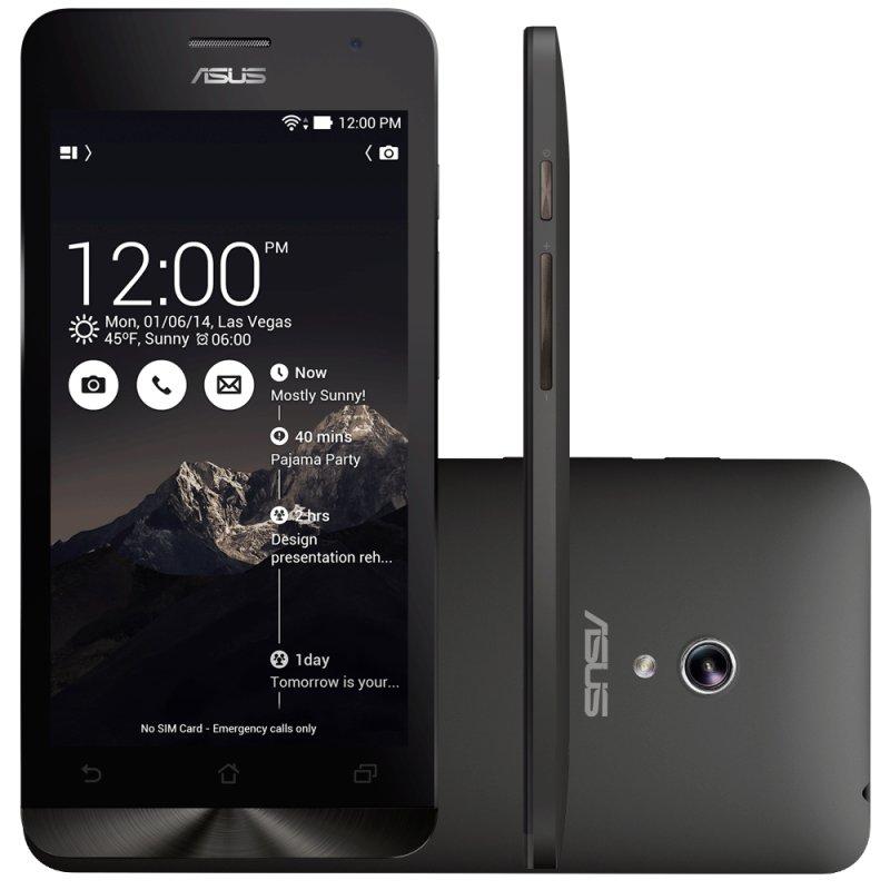 Smartphone Asus Zenfone 5 A501CG 5 ´ ´ 16GB Intel Atom Z2560 Dual Chip 8MP Android 4.4 Wi - Fi 3G Preto / Desbloqueado