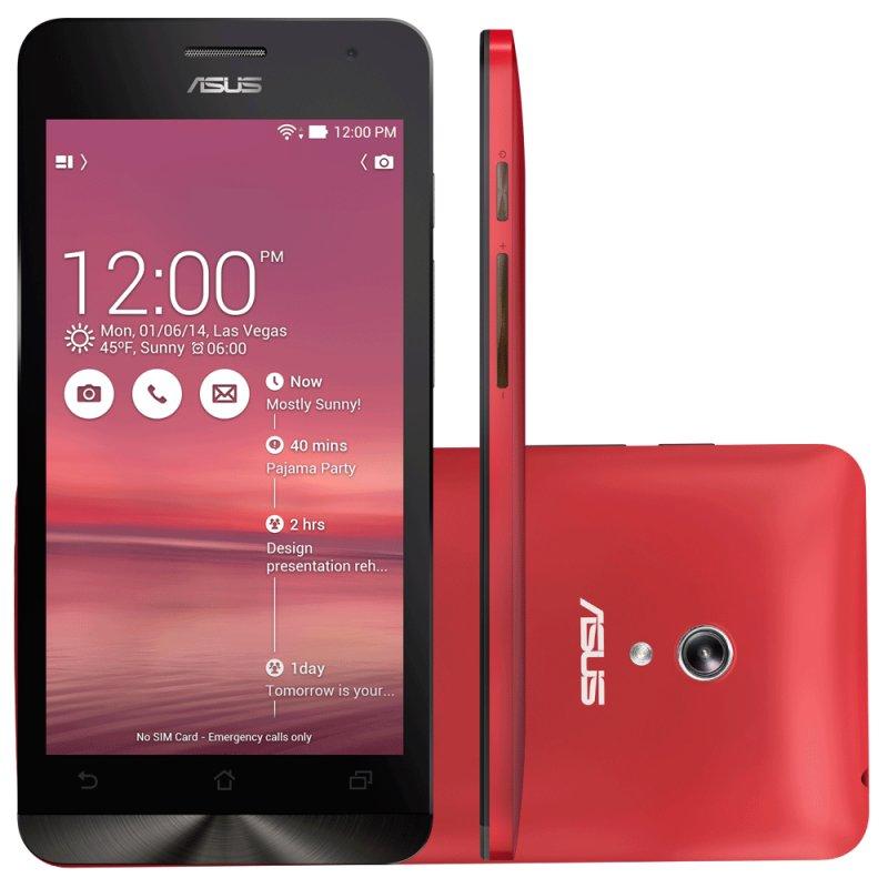 Smartphone Asus Zenfone 5 A501CG 5 ´ ´ 8GB Intel Atom Z2560 Dual Chip 8MP Android 4.4 Wi - Fi 3G Vermelh / Desbloqueado