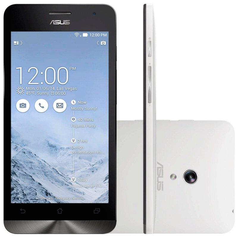 Smartphone Asus Zenfone 5 A501CG 5 ´ ´ 8GB Intel Atom Z2560 Dual Chip 8MP Android 4.4 Wi - Fi 3G Branco / Desbloqueado