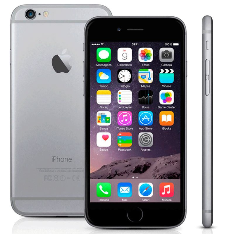 IPhone 6 Apple MG3H2BZ / A 64GB IOS 8 4G Wi - Fi Câmera 8MP Cinza Espacial / Desbloqueado