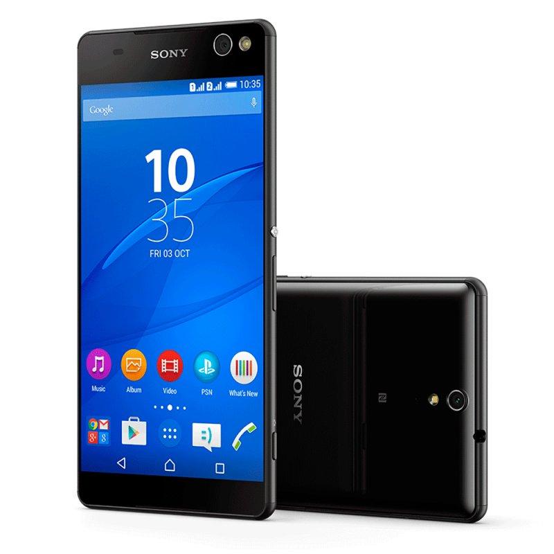 Smartphone Sony Xperia C5 Ultra Dual E5563 6 ´ Full HD Android 5.0 13MP Rádio FM Preto / Desbloqueado