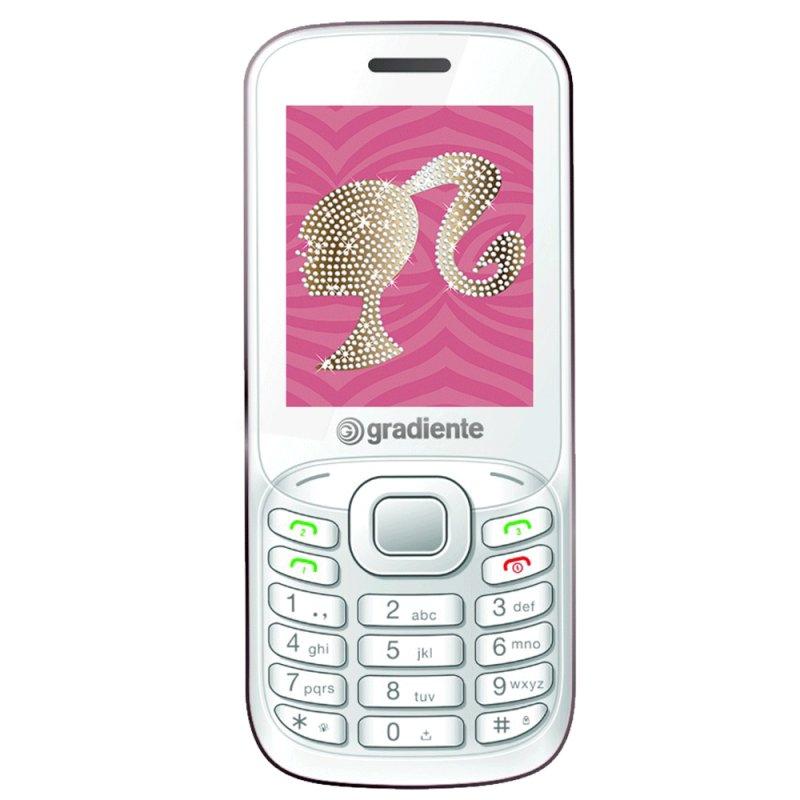 Celular Gradiente Handy Bar Tri Chip C90 Desbloqueado Bluetooth Prata e Rosa Barbie Sim Não Informado Branco e Rosa Sim 1.2 MP Sim Não Quad Band Não Bateria Não Não Informado Não Não Informado Não Informado 2GB RTOS Não Sim Sim Não Informado 32 MB 12