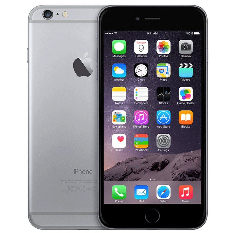 iPhone 6 Plus Cinza Espacial 64GB 4G Apple com Câmera Traseira de 8MP / Desbloqueado
