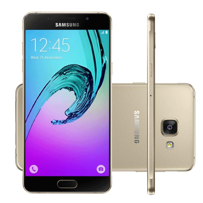 Smartphone Samsung Galaxy A5 2016 Tela de 5.2 ´ 16 GB Octa Core 4G Dual Chip 13 MP Dourado Sim Dourado 12 meses Sim Sim Ions de Lítio Quad - band Sim Sim Super AMOLED 5.2 ´ Sim Até 128 GB Sim 16 GB Octa - Core Android 5.1 Sim Sim Sim SIm Sim 13.0 MP