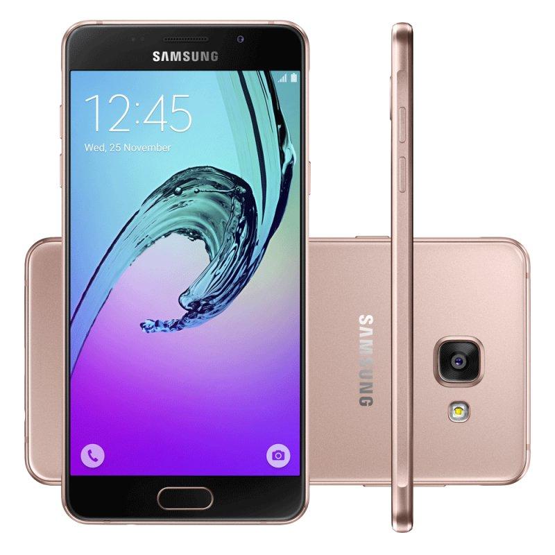 smartphone samsung galaxy a5 2016 rose tela de 5 2 16 gb octa core 4g dual chip 13 mp. Black Bedroom Furniture Sets. Home Design Ideas