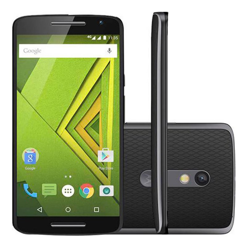 Smartphone Motorola Moto X Play Preto 32GB 5,5 ´ Dual Chip Tela Full HD de Camera 21MP Octa Core