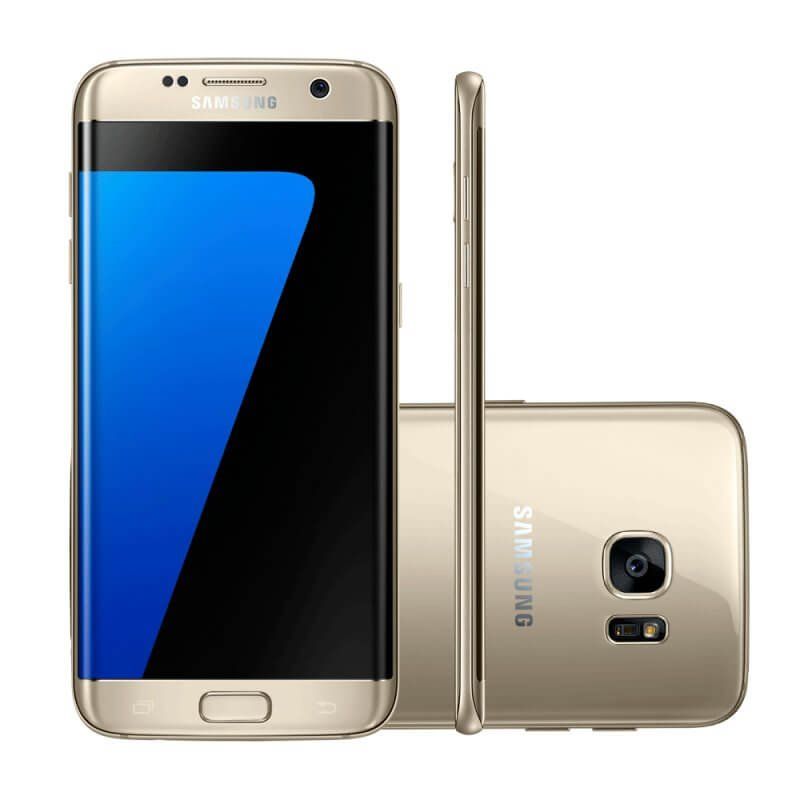 Smartphone Samsung Galaxy S7 Edge Dourado 32gb Octa-core Tela Curva 5