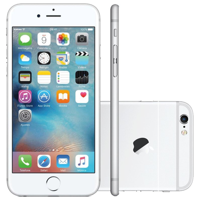 iPhone 6S Apple 16GB Prata 4G iOS 9 3D Touch Chip A9 e Câmera de 12MP