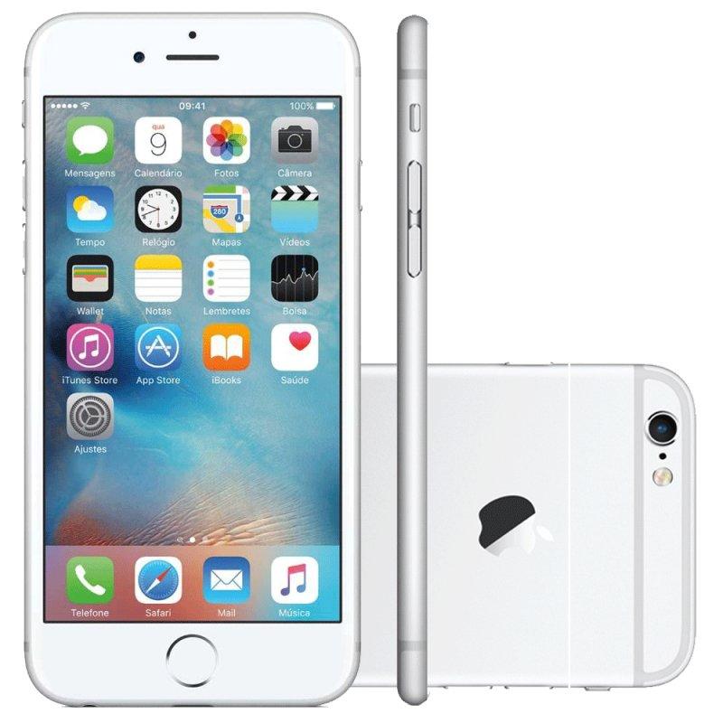 iPhone 6S Apple 16GB Prata 4G iOS 9 3D Touch Chip A9 e Câmera de 12MP