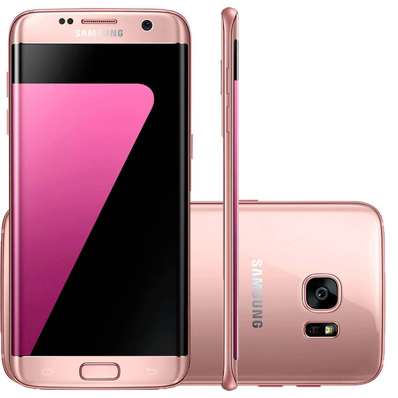 smartphone samsung galaxy s7 edge rose compre online. Black Bedroom Furniture Sets. Home Design Ideas