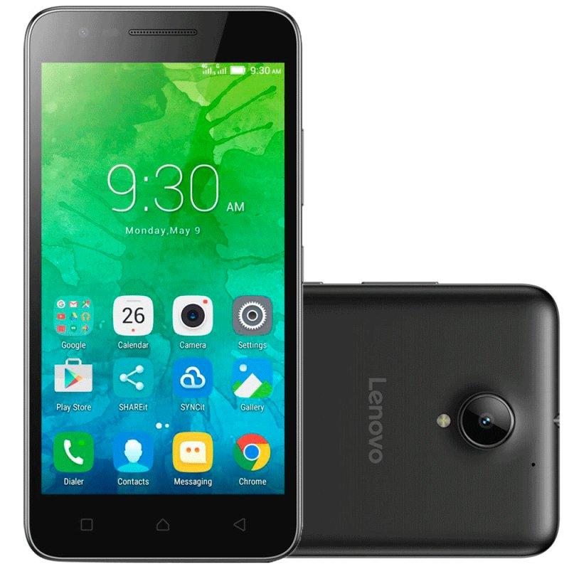 Smartphone Lenovo Vibe C2 16GB Preto Tela 5'' 8MP Dual Chip Quad Core 4G