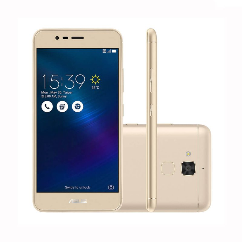 smartphone asus zenfone 3 max dourado 16gb dual chip. Black Bedroom Furniture Sets. Home Design Ideas