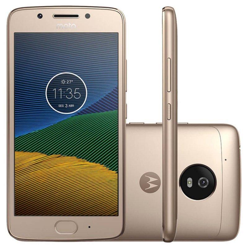 Smartphone Motorola Moto G5 Ouro 5 ´ Câmera de 13MP 32GB de Memória e 2GB de RAM