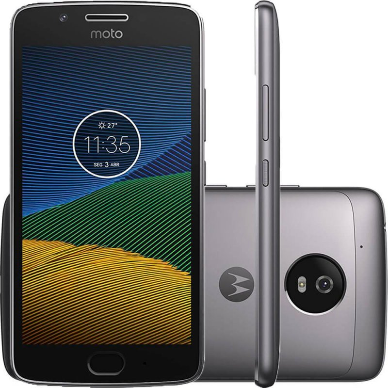 Smartphone Motorola Moto G5 Platinum 5 ´ Câmera de 13MP 32GB de Memória e 2GB de RAM