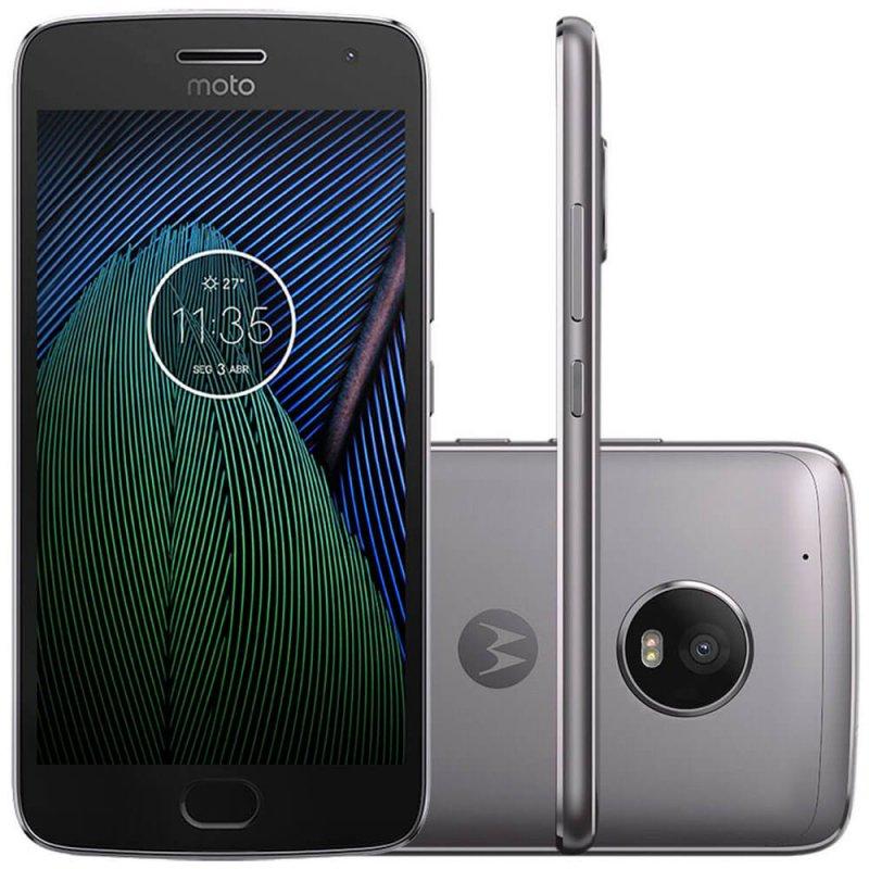Smartphone Motorola Moto G5 Plus Platinum 5,2 ´ Câmera 12MP Memória 32GB e 2GB de RAM