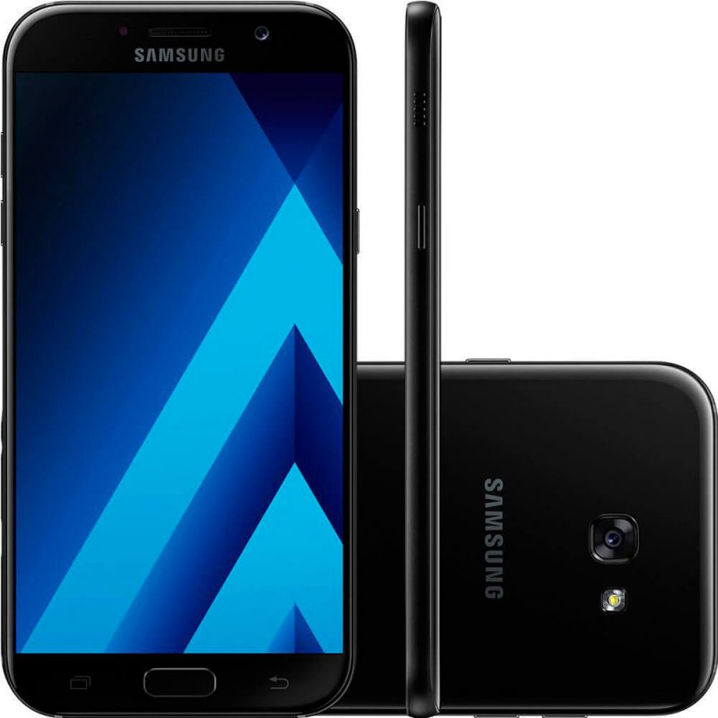 Smartphone Samsung Galaxy A7 2017 Preto 5,7 ´ 32GB Dual Chip Câmera Frontal 16MP e 3GB de RAM
