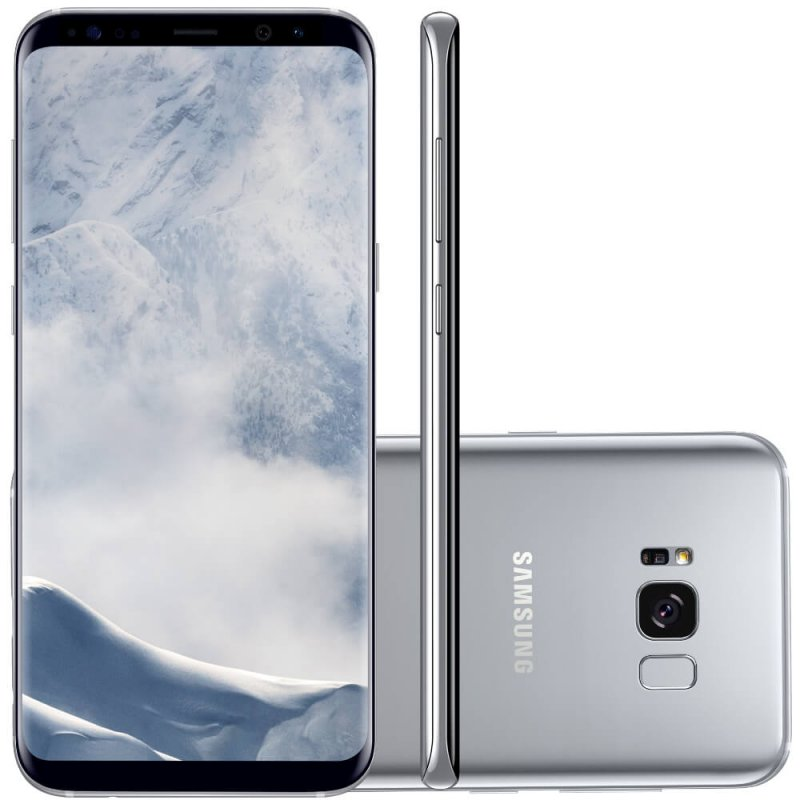 Smartphone Samsung Galaxy S8 Plus Prata 6,2' Câmera de 12MP 64GB Octa Core e 4GB de RAM