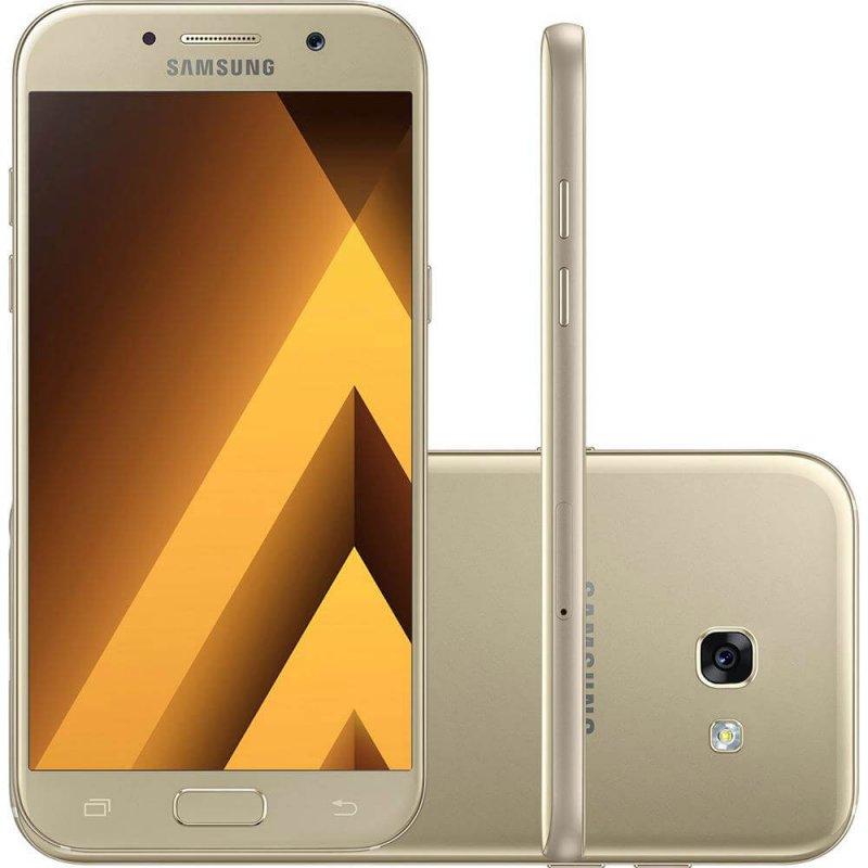 Smartphone Samsung Galaxy A5 ( 2017 ) Dourado 5,2 ´ Câmera de 16MP 32GB Dual Chip 3GB de RAM