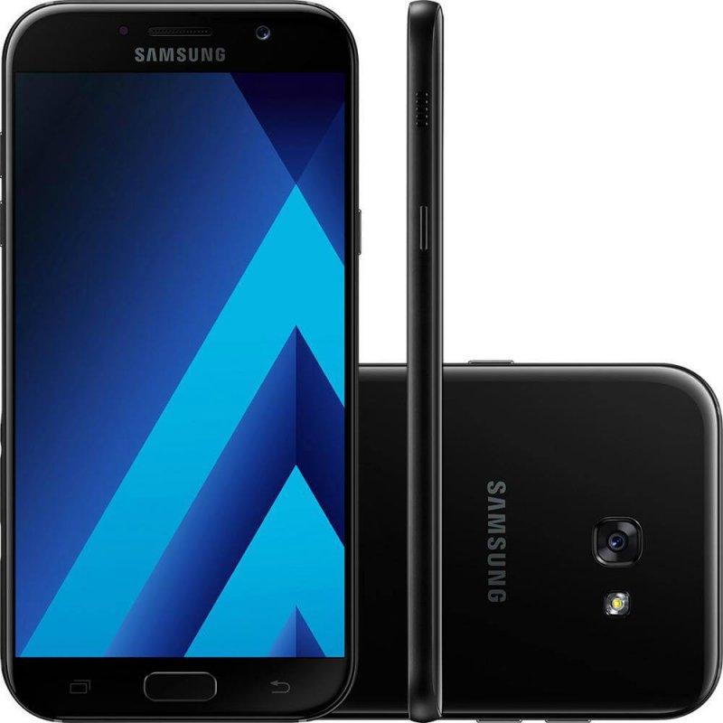 Smartphone Samsung Galaxy A5 ( 2017 ) Preto 5,2 ´ Câmera de 16MP 32GB Dual Chip 3GB de RAM