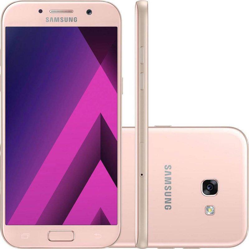 Smartphone Samsung Galaxy A5 ( 2017 ) Rosa 5,2 ´ Câmera de 16MP 32GB Dual Chip 3GB de RAM