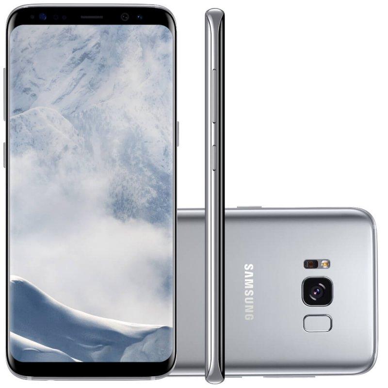 Smartphone Samsung Galaxy S8 Prata 5.8 ´ Câmera de 12MP 64GB Octa Core e 4GB de RAM