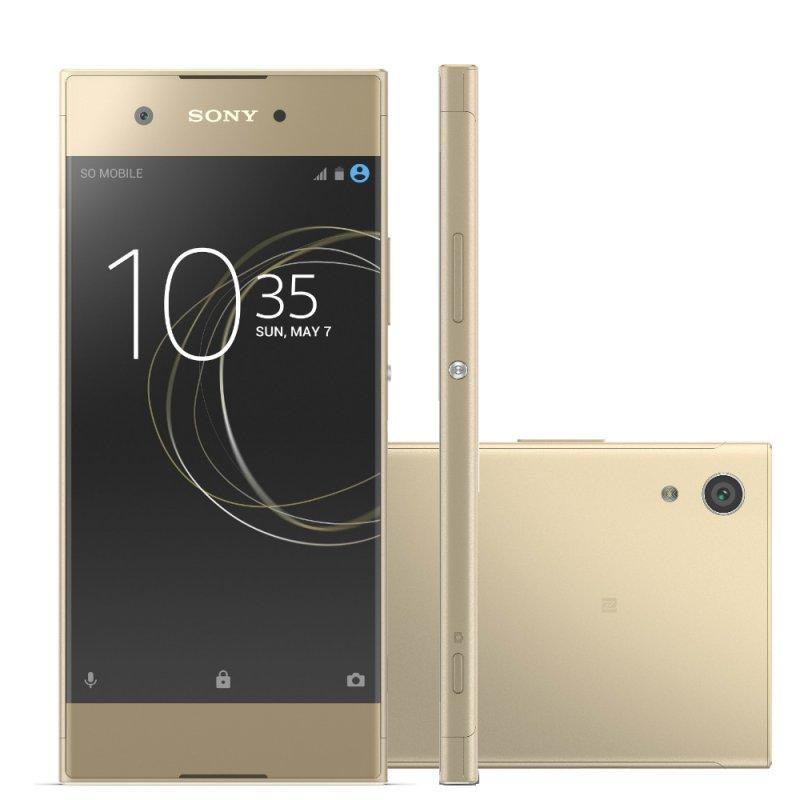 Smartphone Sony Xperia XA1 Dourado 5 ´ Câmera de 23MP 32GB Octa Core e 3GB de RAM
