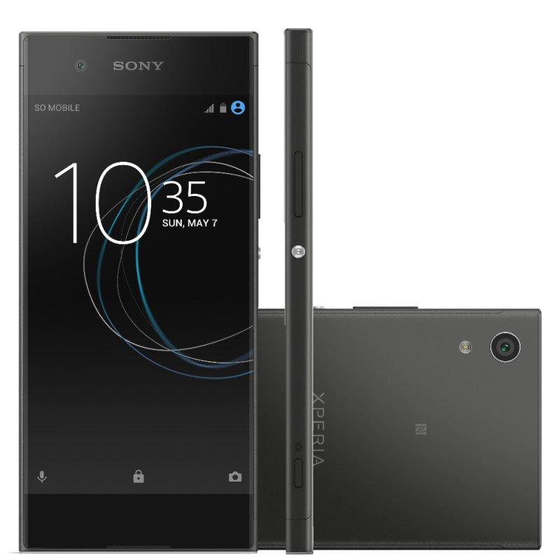 Smartphone Sony Xperia XA1 Preto 5 ´ Câmera de 23MP 32GB Octa Core e 3GB de RAM