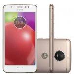 Smartphone Motorola Moto E4 16GB Branco com Capa Ouro Rosê