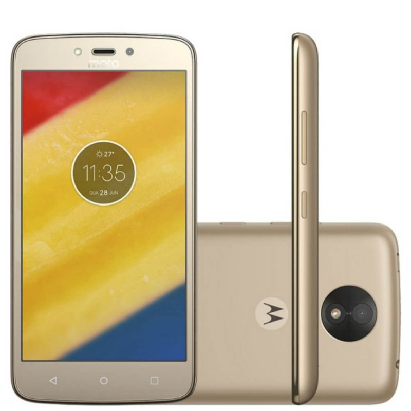 Smartphone Motorola Moto C Plus 8GB Ouro com 4G, Dual - Chip Telefonia Ouro IPS