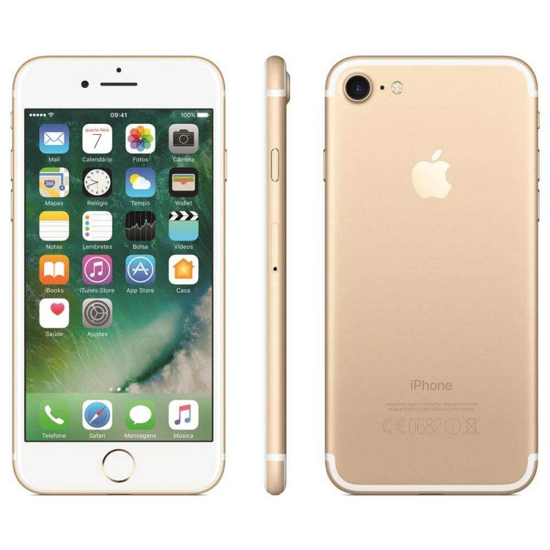Iphone 7 256gb Dourado Tela Retina Hd 4.7 Ios 10 4g e Câmera de 12 Mp