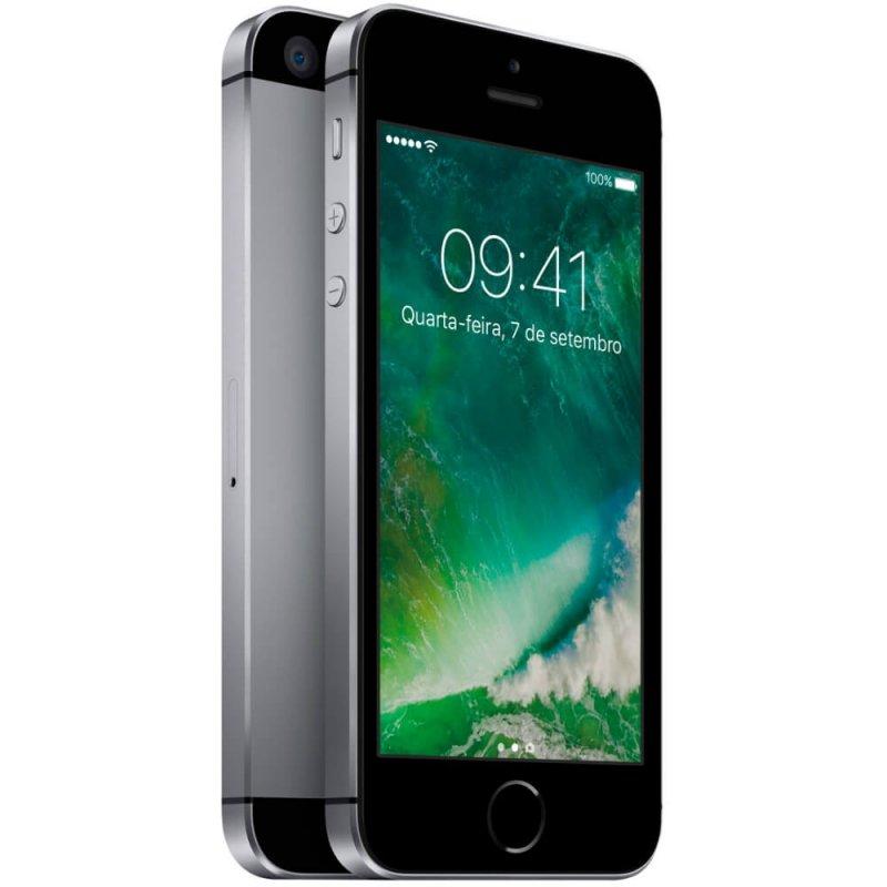 IPhone SE Apple Cinza Espacial 32GB Tela Retina 4 IOS 10 4G e Câmera de 12 MP