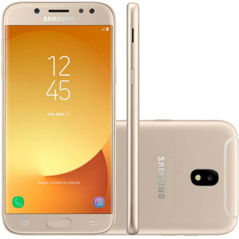 Smartphone Samsung Galaxy J5 Pro Dourado Dual Chip 32GB Tela 5.2 4G Câmera 13MP Octa-Core 1.6GHz