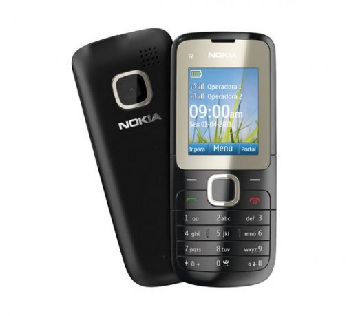 C2 00  Celulares  Celular Nokia C2   Dual Chip   Music Player