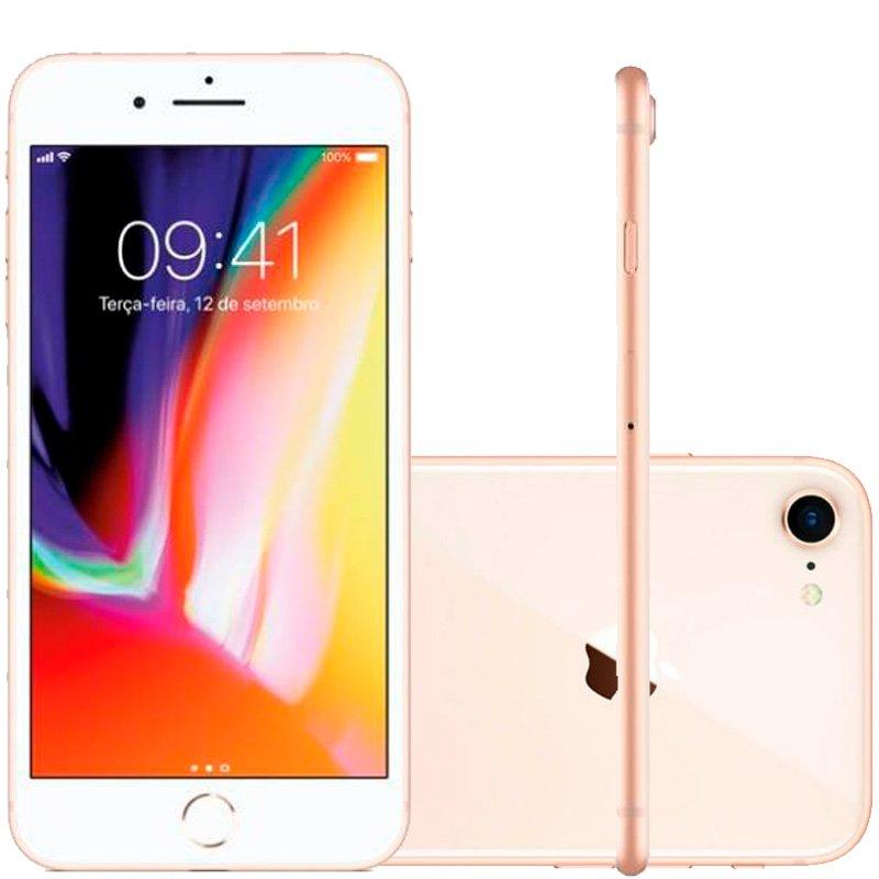 Iphone 8 Apple 64gb Dourado Tela Retina Hd 4,7